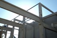 Brandwand und Stahlbeton-Tragkonstruktion