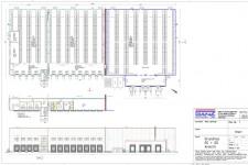 Bauantrag Logistikzentrum-Grundrisse und Ansichten