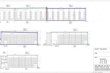 Bauantrag Logistikzentrum-Schnitte