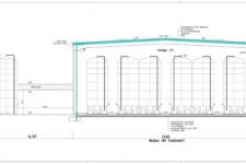 Schnittzeichnung aus Bauantrag