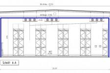 Kühlhaus-Schnittzeichnung