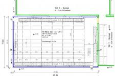 Grundrissplan Tiefkühllager mit Verschieberegalanlage