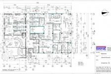 Grundrissplan Produktion, Laden und Partyservice