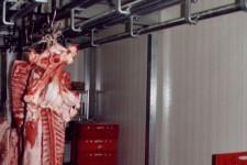 Fleischkühlraum mit Rohrbahn