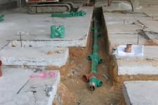 Bauphase-Verlegung der Grundleitungen